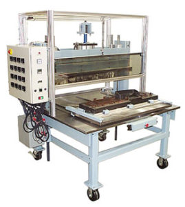 heat staking, heat staking machine, heat staking equipment, custom thermal staking system